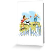 Dick and Jane pLay Ball Greeting Card