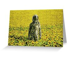 Stranded in the sunflower field Greeting Card