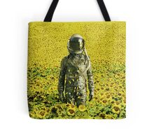 Stranded in the sunflower field Tote Bag