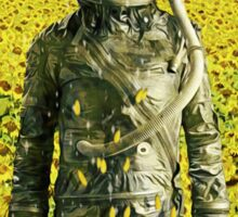 Stranded in the sunflower field Sticker