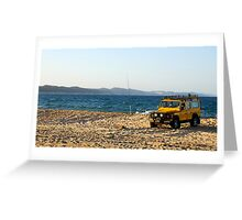 Four Wheel Drive Greeting Card