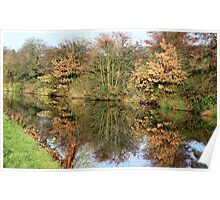 Autumn Canal reflections Poster