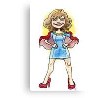 SUPER LADY Canvas Print