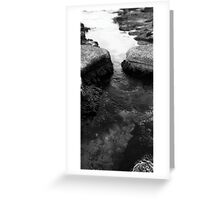 Newcastle Baths Rockpools Greeting Card