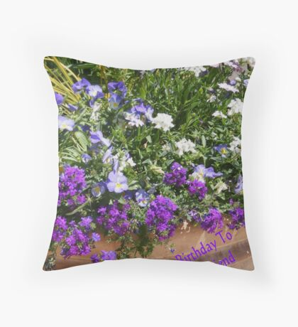 Birthday For A Friend Throw Pillow