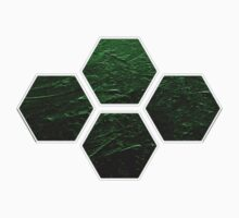 Hexagons in Space! (Green) Kids Clothes
