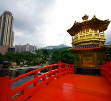 Temple garden, Diamond Hill, Hong Kong. by John Mitchell