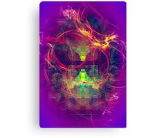Confused Monkey - digital abstract art Canvas Print