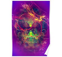 Confused Monkey - digital abstract art Poster