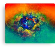 Dancing Mermaids - digital abstract art Canvas Print