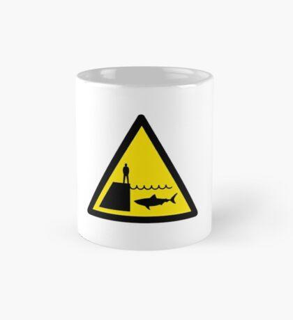 Danger Sharks Sign Mug