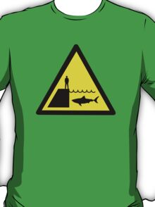 Danger Sharks Sign T-Shirt