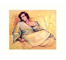 Portrait of Lucy sleeping Art Print