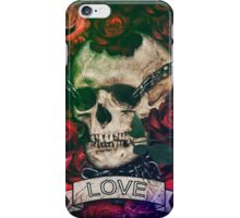Skull, love, chains and roses iPhone Case/Skin