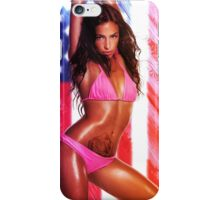 Sexy girl and a US flag iPhone Case/Skin