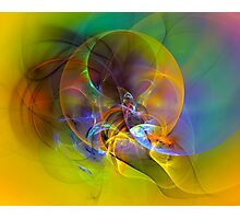 Dove - digital abstract art Photographic Print