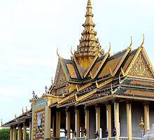 The Royal Palace - Phnom Penh, Cambodia. by Tiffany Lenoir