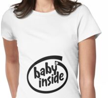 Baby Inside - Black Womens Fitted T-Shirt