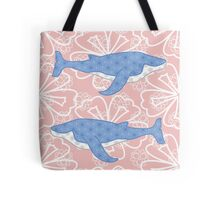 flower whale Tote Bag