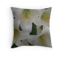 Spring Lilies Throw Pillow