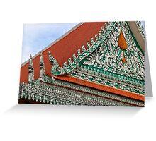 Wat Ounalom Roof - Phnom Penh, Cambodia. Greeting Card