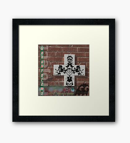 Urban Totems: City Characters Framed Print