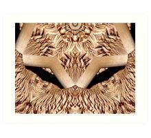 Fungi underside altered image Art Print