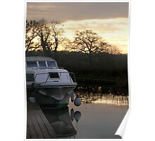 Lancaster Canal Sunset Poster