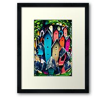 Upscale Bird Community Framed Print