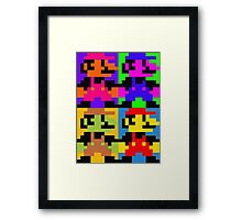 Super Pop Mario Framed Print