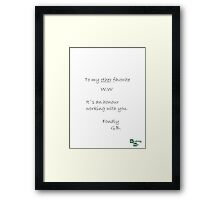 Breaking Bad book note Framed Print