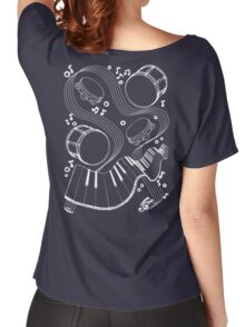 Musical Massage (white print) Women's Relaxed Fit T-Shirt