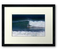 Gavin Colman 2009 World kneeboard Surfing Champion Framed Print