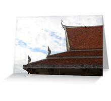 Wat Ounalom Roofs II - Phnom Penh, Cambodia. Greeting Card