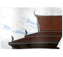 Wat Ounalom Roofs II - Phnom Penh, Cambodia. Poster