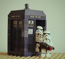 Lego TARDIS with Stormtroopers by ajk92