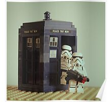 Lego TARDIS with Stormtroopers Poster