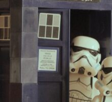 Lego TARDIS with Stormtroopers Sticker