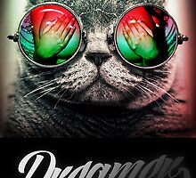 Cat Dreamer fantasy cosmos by dopebubble
