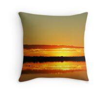 Firey Ferry Sunset Throw Pillow