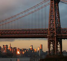 Williamsburg Bridge Sunset by Jane McDougall