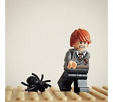 Lego Ron running from Spiders Photographic Print