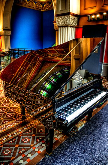 Musical Reflections - QVB Piano -The HDR Experience by Philip Johnson