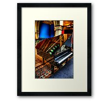 Musical Reflections - QVB Piano -The HDR Experience Framed Print