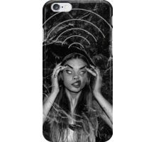 Insane girl searching for wifi on the moon iPhone Case/Skin