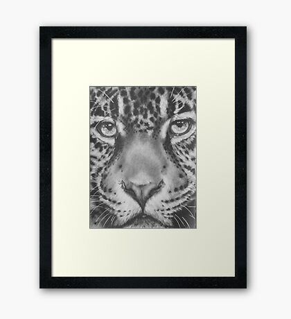Up Close Jaguar Framed Print