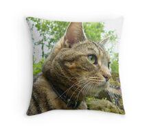 Feline Portrait Throw Pillow