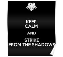 Keep Calm and Strike from the shadows Poster