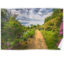 Scotney Castle Garden Path Poster