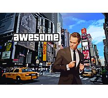 Barney Stinson - Awesome Photographic Print